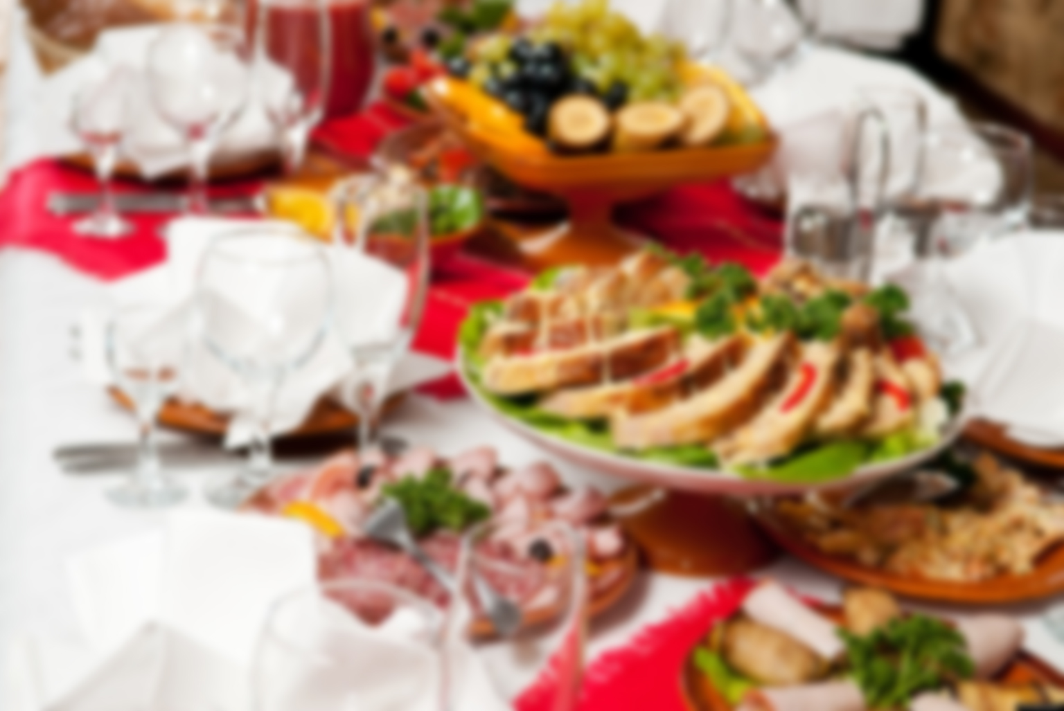 catering table set service with silverware and glass stemware at restaurant before party; Shutterstock ID 70419784; PO: aol; Job: production; Client: drone