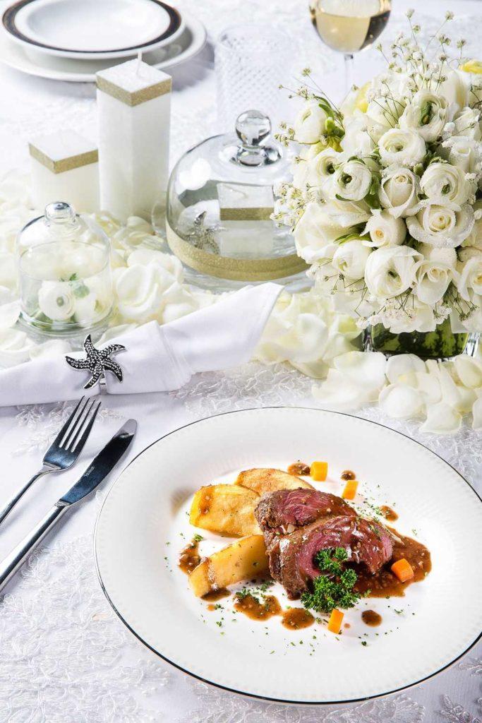Một trong số những món ăn hấp dẫn được phục vụ tại trung tâm hội nghị tiệc cưới Tân Bình Gala Center