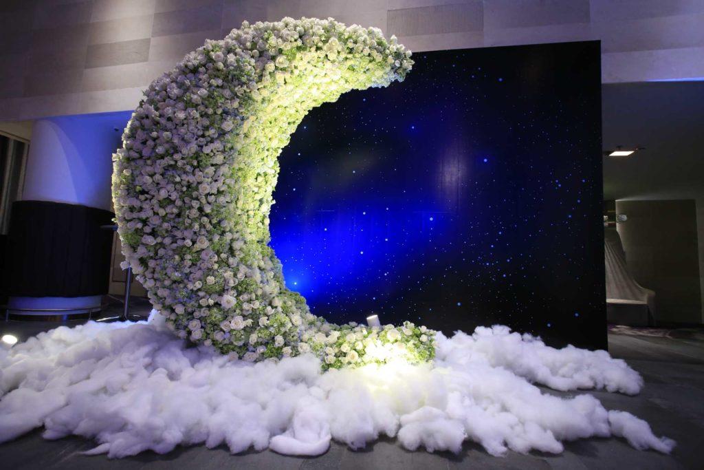 Các bài trí backdrop trong trung tâm hội nghị tiệc cưới tân bình Gala Center