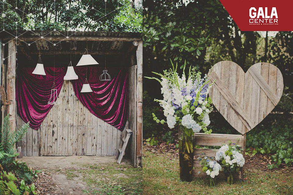 backdrop cưới bằng gỗ