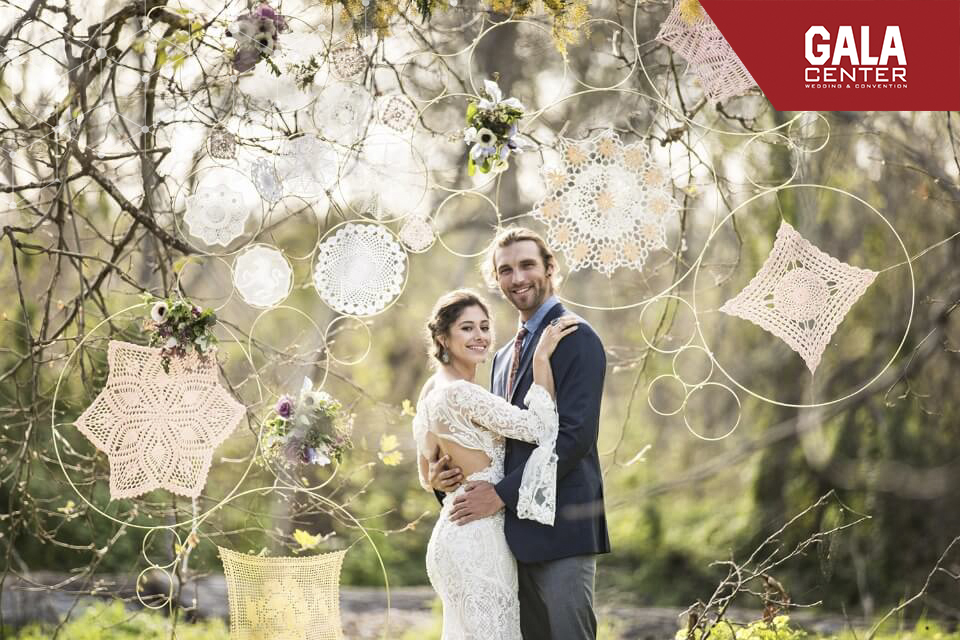 backdrop cưới phong cách boho