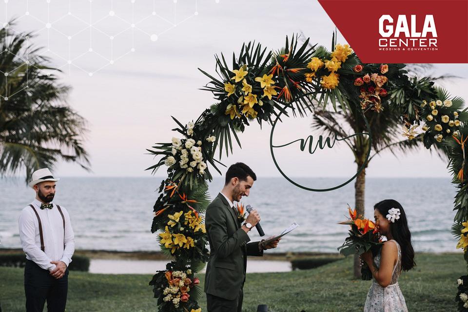 xu hướng tổ chức tiệc cưới ngoài trời theo chủ đề